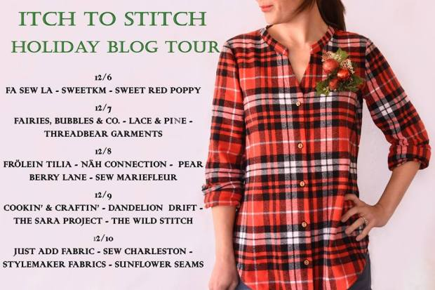 Sunflower Seams | Itch to Stitch, Holiday Blog Tour, Arenal Top, Style Maker Fabrics, Sequin knit, Knit, Long Sleeve, Summer, Spring, Winter, Fall, Holiday, PDF Sewing Pattern, Women's Pattern, Women, Top,